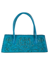 Hide and Chic Marisol Tooled Handbag - Front