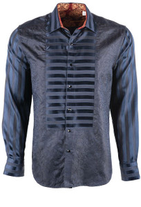 Robert Graham Limited Edition Opera Blue Sport Shirt - Front