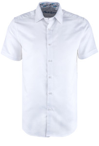 Robert Graham Sequential Short Sleeve Shirt – White - Front