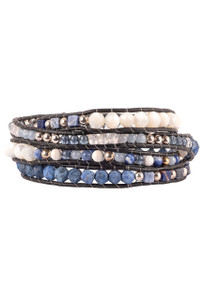 Wrapped to Wear Sodalite Spiral Wrap Bracelet