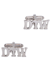 Pinto Ranch Sterling Silver Cutout Initial Cufflinks - Front