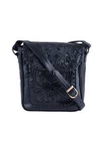 Hide and Chic Consuela Tooled Handbag