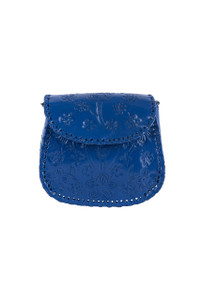 Hide and Chic Camila Tooled Handbag - Front