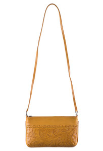 Hide and Chic Daniela Tooled Handbag - Strap