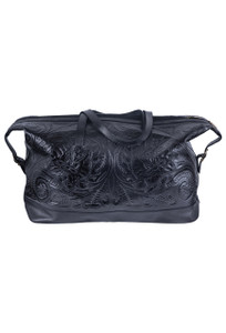 Hide and Chic Aurora Tooled Duffle Bag - Front
