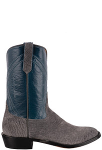 Rios of Mercedes Men's Grey Hippo Roper Boots  - Side