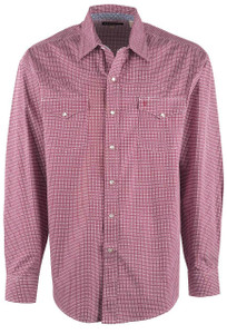 Stetson Red Coffee Bean Geometric Snap Shirt - Front