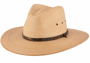 Stetson Cumberland Toasted Palm Straw Hat - Side