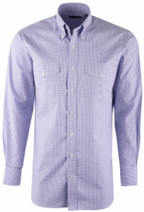 Pinto Ranch YY Collection Lilac Mini Check Shirt - Front