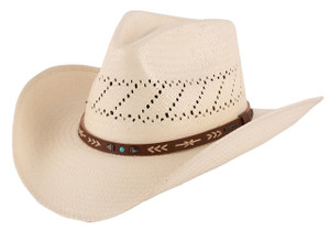 Stetson Santa Fe Shantung Straw Hat - Front