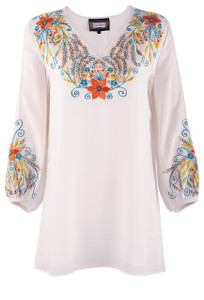 Vintage Collection V-Neck Embroidered Tunic - Front