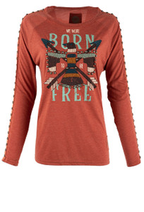 Double D Ranch Born Free Top - Front