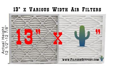 Air filter size 13x high