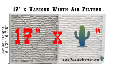Furnace filter size 17 inches tall