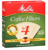 Melitta number 4 coffee filters brown