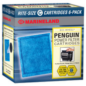 Marineland Rite Size Cartridge C 6-Pack Penguin 170B 200B 330B 350B