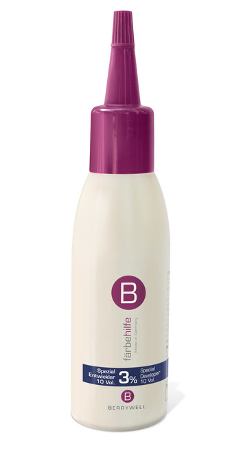 A 3% stabilized peroxide, cream-based developer to be used in conjunction with Berrywell eyelash and eyebrow tints. Comes in a large squeezable bottle and is easy to measure with no spills. Mixes conveniently with tints to make an easy to apply paste, allowing for a fast-acting, safe and effective treatment of lashes and brows