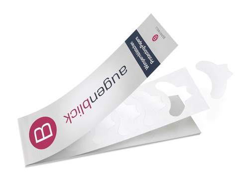 Pre-shaped papers for professional eyelash tinting treatments. These protective eye pads are uniquely pre-cut to fit perfectly under the lower lashes. The special paper absorbs excess colour, helping to prevent staining on the skin.