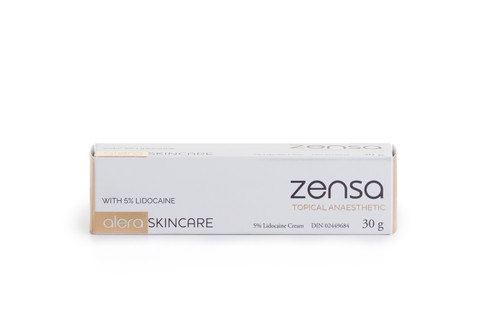 Create a comfortable experience for your clients. Zensa Topical Anaesthetic prepares and numbs skin prior to painful procedures including Plasma Pen, microblading, laser hair removal and injections. This Health Canada and FDA approved formulation is used by thousands of aestheticians and artists for its impressive efficacy, high quality packaging and safety. Key aspects of Zensa's high quality formulation include: Maximum strength 5% Lidocaine with minimal fillers makes it the most natural and safest numbing cream available. Safe for Plasma Pens, Waxing, Tattoos, PMU, Micro-Needling and Micro-Blading, safe to use with pigments and inks. Safe to use around sensitive areas since it is pH Balanced and water based not oily or greasy. Quick acting: 20 minutes for 1-2 hour Numbing effect. Safe to re-apply Includes Vitamin E too which acts as an antioxidant helping skin heal faster post-procedure
