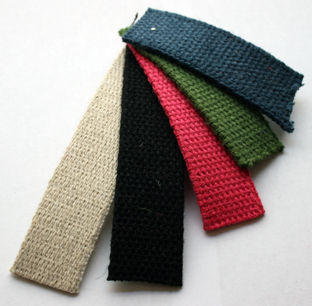 Colored Hemp webbing