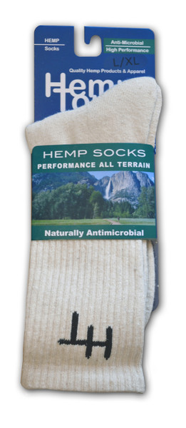 Hemptopia Hemp Socks natural front view