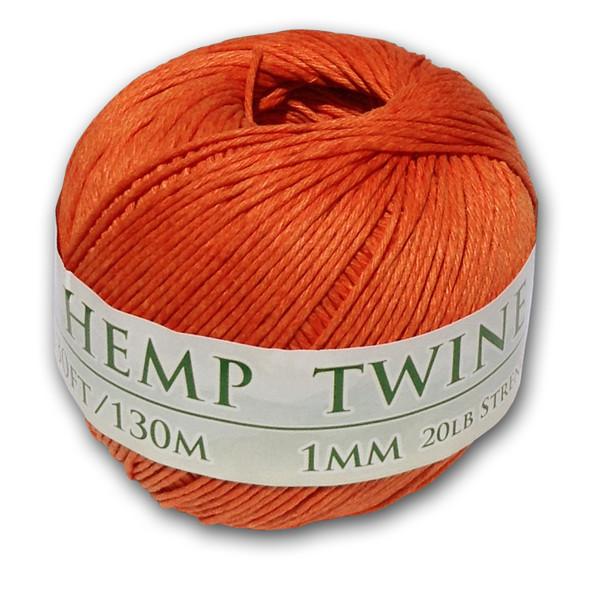 Orange Hemp Twine