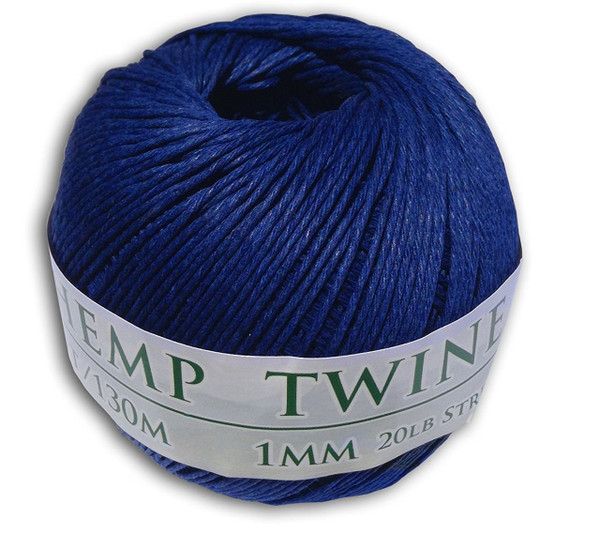 royal blue hemp twine