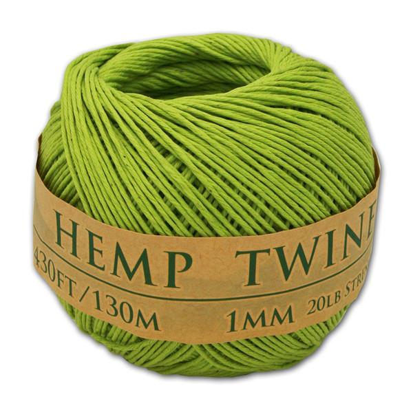 lime green hemp twine