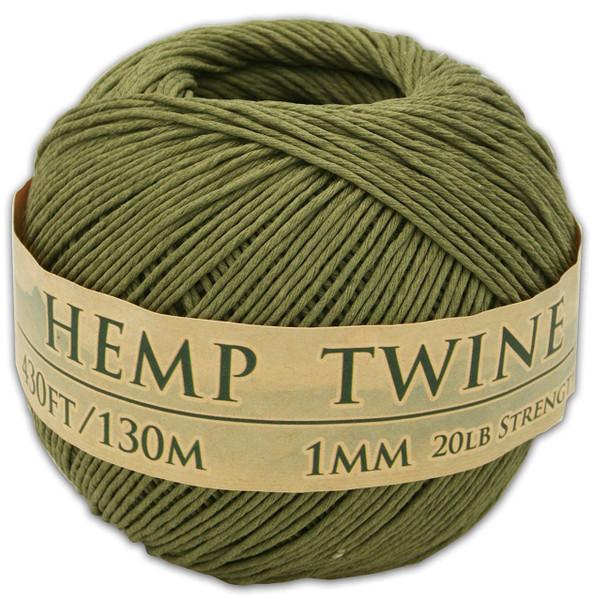 truly olive hemp twine