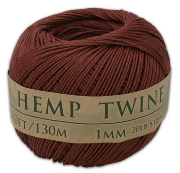 brown hemp twine ball 1mm