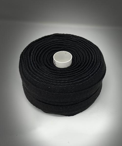 Black hemp webbing studio shot