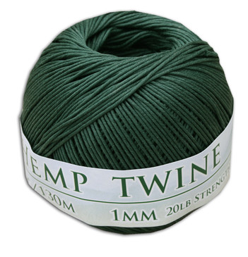 Hunter Green Hemp Twine