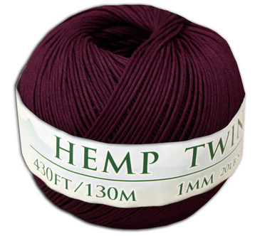 Bourbon Red Hemp Twine