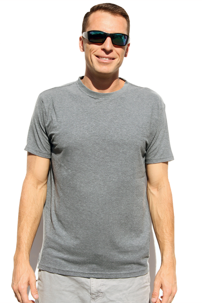 Men's Light Gray Hemp T-Shirt