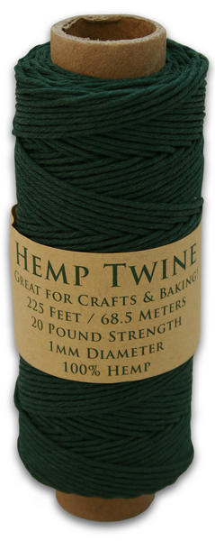 Hunter Green Hemp Twine Spool