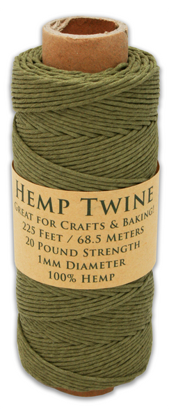 Truly Olive Hemp Twine Spool