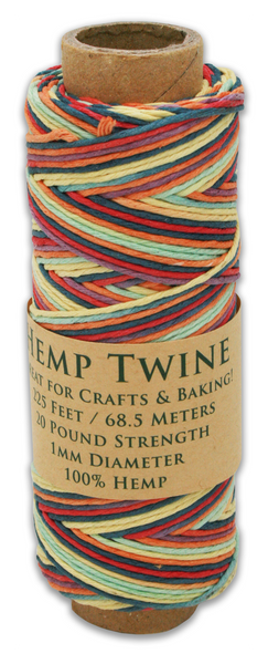 Rainbow Hemp Twine Spool