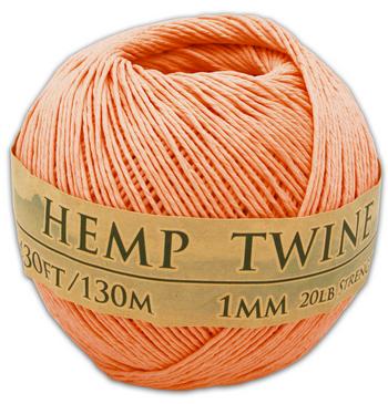 Tropical Coral Hemp Twine Ball