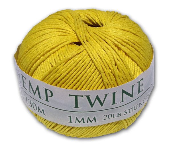 yellow hemp twine
