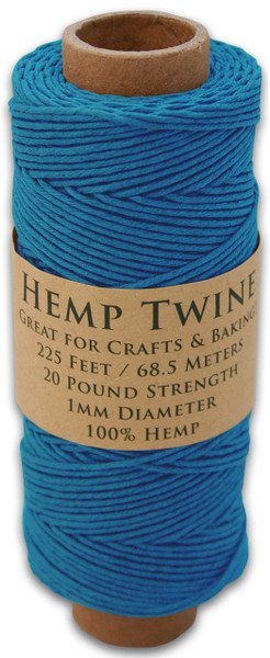 Blue Hemp Twine Spool