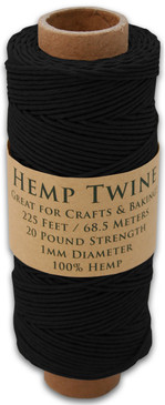 Black Hemp Twine Spool
