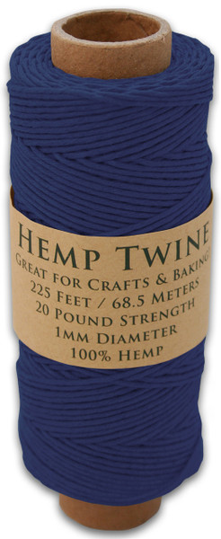 Navy Blue Hemp Twine Spool