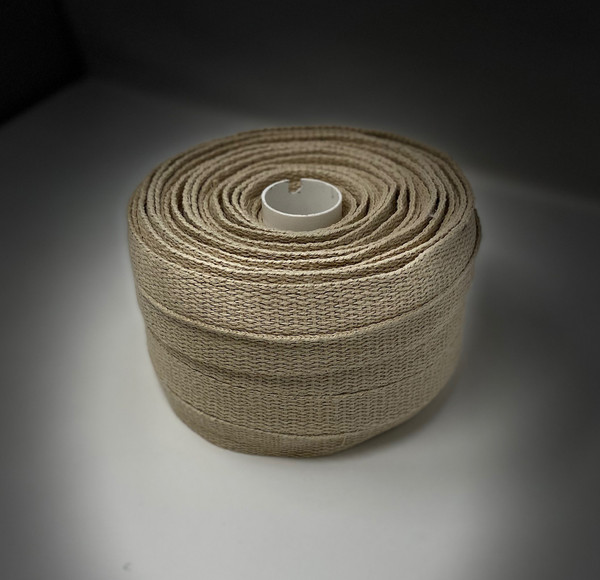 "1"" Hemp webbing Made in the USA side angle"