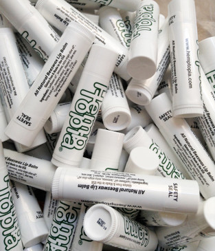 Custom branded all natural hemp lip balm