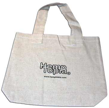 Hemp Tote Bag w/logo - The Farmer - 100% recycled material consisting of 35% recycled hemp, 35% recycled cotton and 30% recycled polyester.