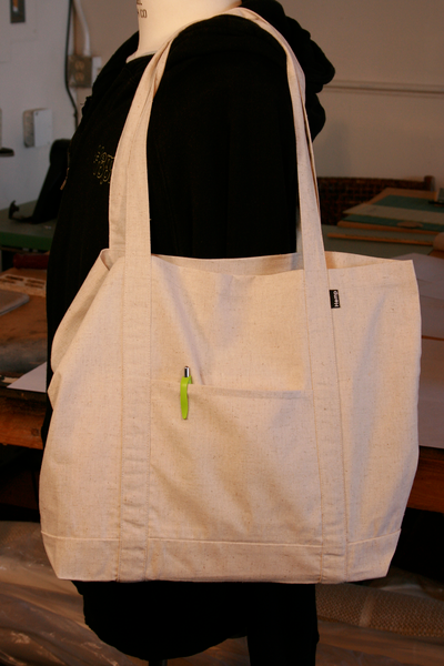Hemp Tote Bag - The Grocer - Shoulder strap