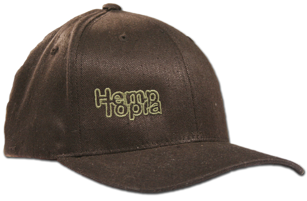 Hemptopia Hemp Cap w/logo - Dark Brown