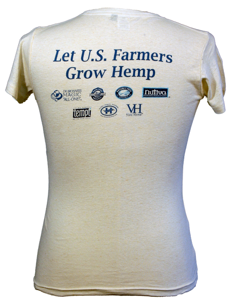 Womens Hemp History Week T-Shirt - Back