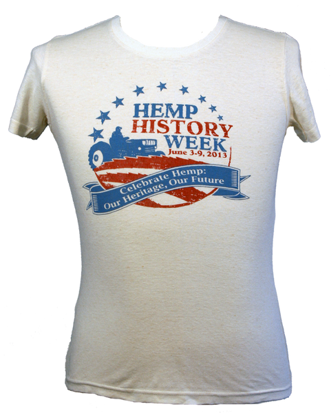 Womens Hemp History Week T-Shirt - Front