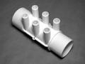 10531 Manifold PVC, Water,  WATERW,  2in S x 2in Spg x (6) 3/4in SB Ports